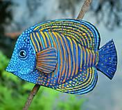 Brošne - Royal Angelfish - kožená brož s malbou - 12092919_