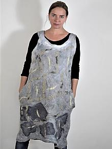 Šaty - Dámske vlnené šaty - 12096475_