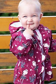 Detské oblečenie - Softshellový kabátik pre malé baletky - 12095476_