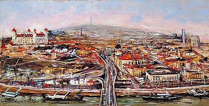 Obrazy - Pohľad na Bratislavu - 12095371_