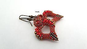 Náušnice - Angel (simply) (bronz-red) - 12096820_