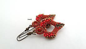 Náušnice - Angel (simply) (bronz-red) - 12096822_