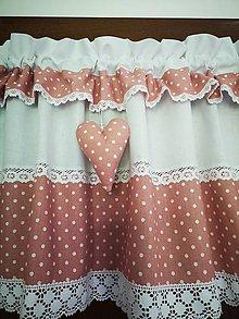 Úžitkový textil - Záclonka pudrovo ružová - 12094926_