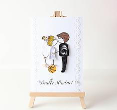 Papiernictvo - svadobná pohľadnica - 12095812_