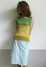 Tielka - žlto zelené tielko - 12095771_