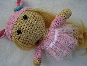 Hračky - mini bábika ružová - 12100099_