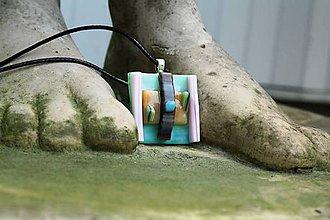 Náhrdelníky - Sklenený prívesok - Abstrakt 13 - 12098941_