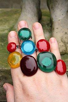 Prstene - Fusingový prsteň - Simple colours (Červená) - 12099478_