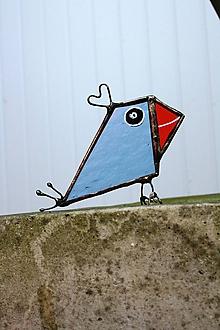 Dekorácie - Sklenená dekorácia - Vtáčik 1 - 12100028_