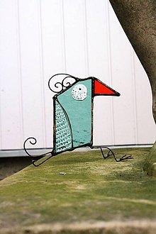 Dekorácie - Sklenená dekorácia - Vtáčik 5 - 12100112_