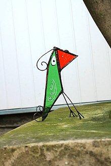 Dekorácie - Sklenená dekorácia - Vtáčik 6 - 12100118_