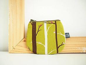 Peňaženky - Peňaženka - stromy v zelenej - 12098879_
