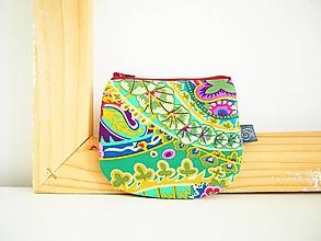 Peňaženky - Peňaženka - Havaj v zelenej - 12098900_
