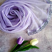 Šály - Sedmá barva duhy - fialkový šál - 12100856_