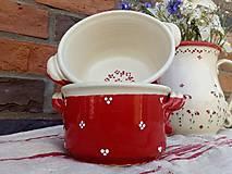 Nádoby - Červená keramická zapekacia miska - 12099810_