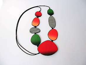 Náhrdelníky - ,,Pomarančový náhrdelník,, - 12100140_