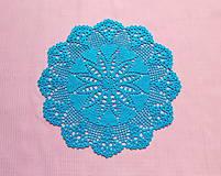 Úžitkový textil - Háčkovaná dečka Tyrkysová - 12099189_