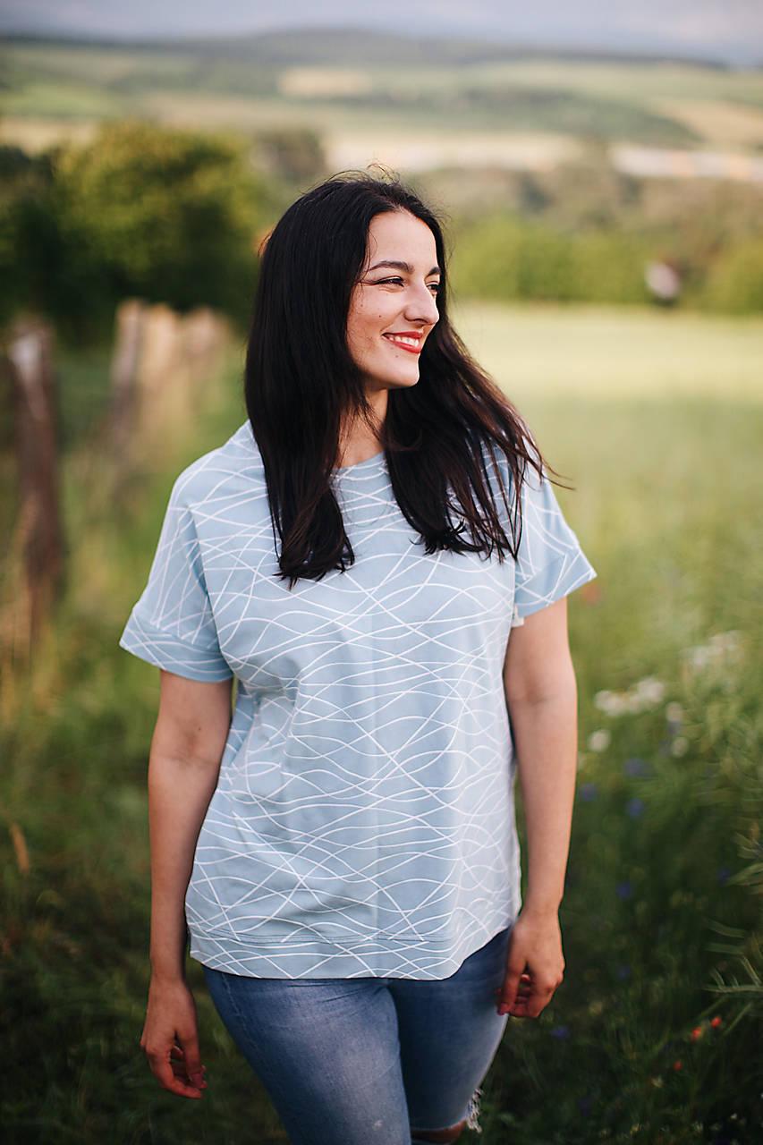 Oversize tričko na dojčenie ocean