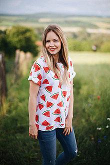 Tričká - Oversize tričko na dojčenie water melon - 12099700_