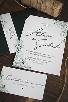 Papiernictvo - Svadobné oznámenie - ZELEŇ ❤ - 12099508_