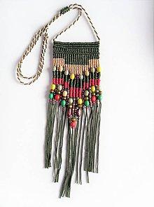 Náhrdelníky - Macramé náhrdelník Summer - 12098639_