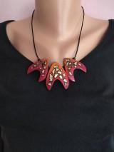 Náhrdelníky - Červený náhrdeľník - 12100509_