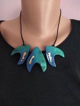 Sady šperkov - Modrotyrkysový set - 12100539_