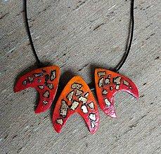 Náhrdelníky - Červený náhrdeľník - 12100508_