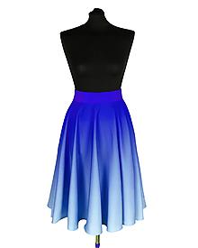 Sukne - SVETLANA- potlač Kráľovský modrý prechod - 12098355_