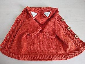 Detské oblečenie - Vestička - Líštička - 12098663_