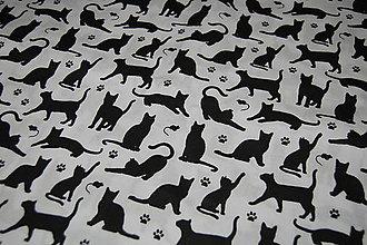 Textil - metráž  mačičky - 12099401_