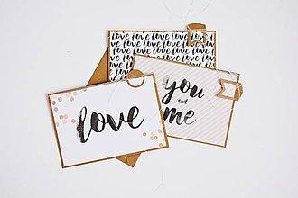 Papiernictvo - Gratulačný pozdrav - LOVE - 12102420_