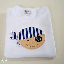 Detské oblečenie - body PIRÁT HUGOLÍN s úsmevom (dlhý/krátky rukáv) - 12101955_