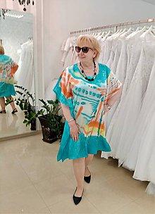 Šaty - Maľba na hodváb-šaty HOLIDAY - 12101137_
