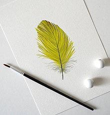 Kresby - Žlté pierko (A5 - 148 × 210mm) - 12102713_