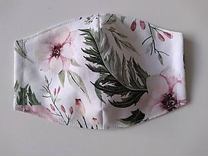 Rúška - Dizajnové rúška (Jemné kvety) - 12101282_