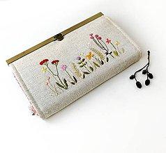 Peňaženky - Peňaženka s priehradkami Lúčne rastlinky - 12101503_