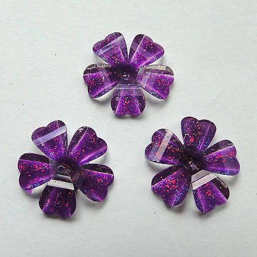 Našívací kvet 12mm-1ks (fialová)