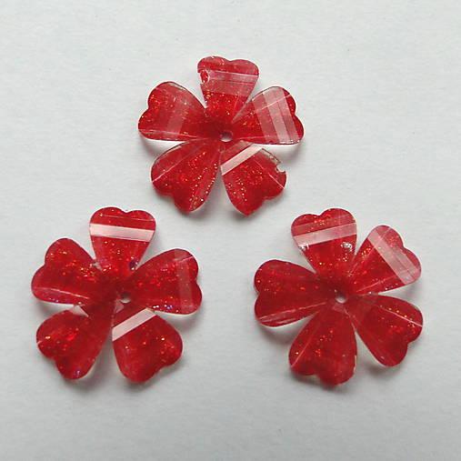 Našívací kvet 12mm-1ks (červená)