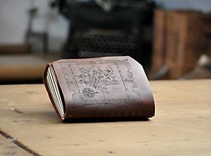 Papiernictvo - kožený zápisník SILVER LAKE - 12104322_