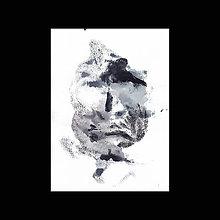 Obrazy - tvár II. akryl na výkrese - 12105072_