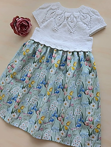 Detské oblečenie - Šaty tulipánové - 12104369_
