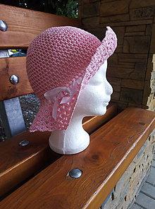 Čiapky - Dievčenský klobúčik - 12103812_