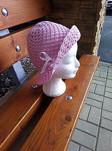 Čiapky - Dievčenský klobúk - 12103848_