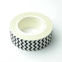 Papier - Washi dekoračná páska - cik-cak - 12104708_