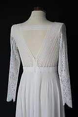 Šaty - Svadobné šaty s dlhým rukávom a kruhovou sukňou - 12103295_