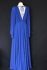 Šaty - Spoločenské šaty s holým chrbátom rôzne farby - 12103332_