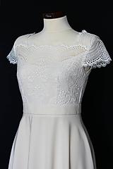 Šaty - Svadobné šaty s polkruhovou sukňou rôzne farby - 12103363_