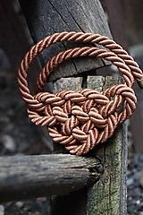 Náhrdelníky - Náhrdelník uzlový škoricový - 12104698_