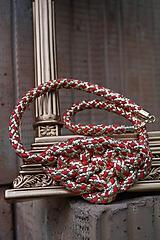 Náhrdelníky - Náhrdelník uzlový s lurexom - 12104755_